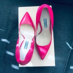 Bright pink Prada heels